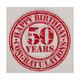 Motivservietten 3-lagig, 33 x 33 cm, Happy Birthday - 50, Vintage Look, 20 Stk.