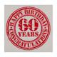 Motivservietten 3-lagig, 33 x 33 cm, Happy Birthday - 60, Vintage Look, 20 Stk.