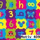 Geschenkpapier Mainstream  30 cm x 200 m | Motiv 409 Kinder Zahlenpuzzle