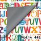 Geschenkpapier Luxe DUO zweiseitig 60 cm x 200 m   Motiv 441 Alphabet ABC