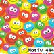 Geschenkpapier Luxe  30 cm x 250 m | Motiv 444 bunte Smileys