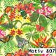 Geschenkpapier Exclusiv  60 cm x 200 m | Motiv 807 Blumen Jungle