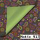 Geschenkpapier Royal DUO zweiseitig 50 cm x 200 m | Motiv 917 Paisley schwarz