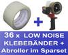 36 Stk. Packband Klebeband OPP-909NN 50mmx66m, Low Noise transparent + Abroller
