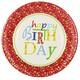 Teller Geburtstagsteller Geburtstag Happy Birthday, Ø 23 cm, Pappe, 10 Stk.