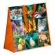 Tragetasche Shopper gewebt Harmonie 45+20x45 cm wiederverwendbar