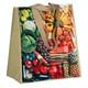 PP Woven Mehrweg Tragetaschen Shopper Picknick nachhaltig 38+20x39 cm
