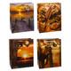 Premium Geschenktüten Präsenttüten groß HERRENSERIE 320x260x135mm, 12 Stk.
