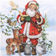 Weihnachtsservietten 3-lagig 33 x 33 cm Weihnachtsmann, 20 Stk.